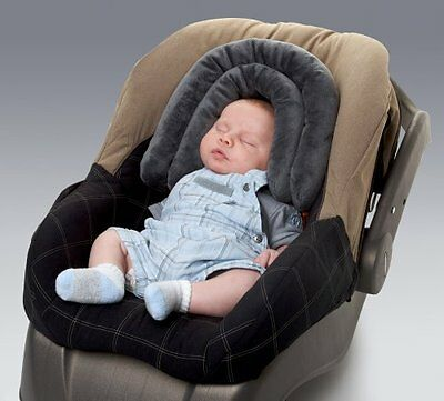 2-In-1 Diono Infant Head Support Pillow For Baby Car Seat Carrier Stroller Grey