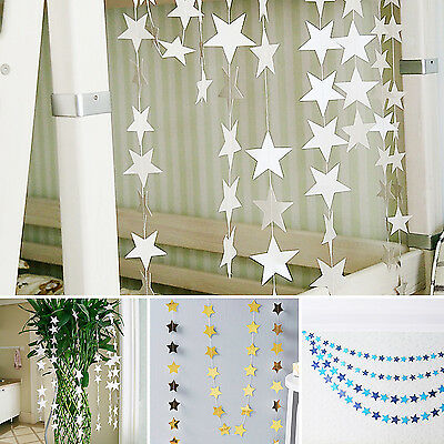 SUP 4m Star Paper Garland Banner Bunting Baby Shower Wedding Party Decoration