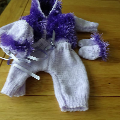 """Hand Knitted Dolls Outfit to fit a 14"""" doll"""