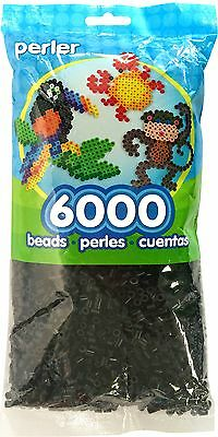 Perler Beads Black Bead Bag (6000 Count) [10x5x1 inch package] {80-11092} NEW