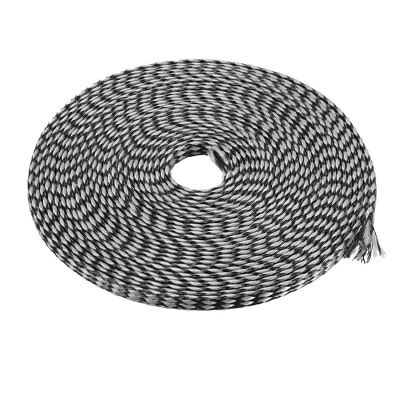 4mm PET Cable Wire Wrap Expandable Braided Sleeving Black Gray 5M Length