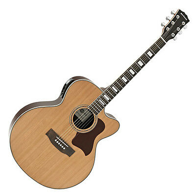 Jumbo Electro Acoustic Guitar by Gear4music Natural
