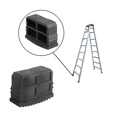 New 2x Replacement Rubber Feet Non Slip Ladder Foot Mat Cushion Sole Tool Black