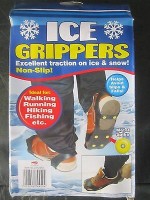 Ice Grippers Snow Grips Spikes Crampon Cleats for Shoes Boots Overshoe Anti Slip