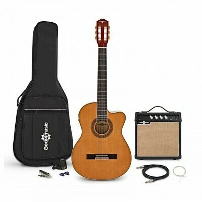 Thinline Electro Classical Guitar + 15W Amp Pack