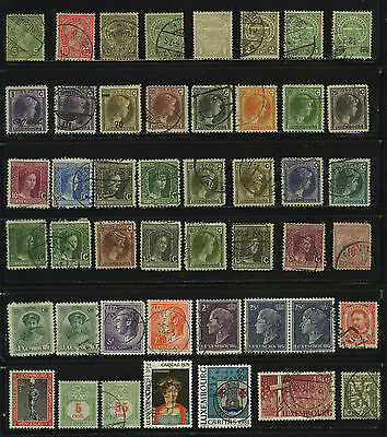 Luxembourg Old Stamps Timbres Francobolli Sellos 郵便切手 郵票 Stempels Postzegels