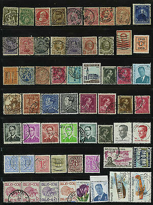 Belgium Belgique Belgie Europe Old Stamps Timbres Francobolli Sellos Collection