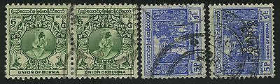 Union Of Burma India Gb Colonial Rule - Stamps - Francobolli - Timbres - Sellos