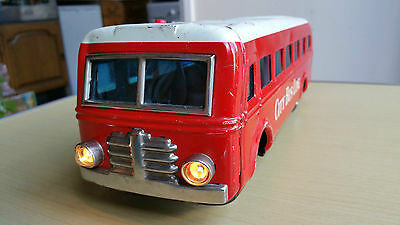 Vintage Tinplate Modern Toys Japan Battery Operated City Line Bus