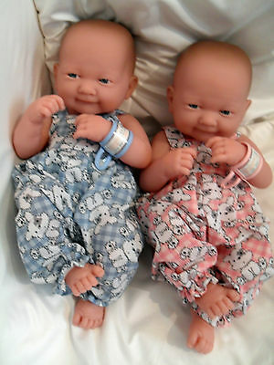 """14"""" Dungarees  Doll Clothes Handmade Little Baby Born First Annabell 34Cm"""