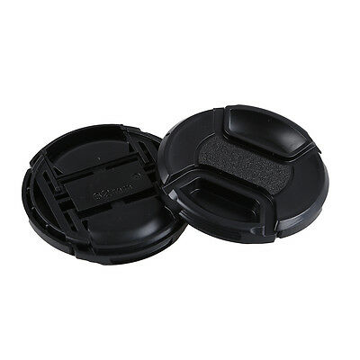 2 Pcs 62mm Plastic Clip On Front Lens Cap Cover Black for Camera CT