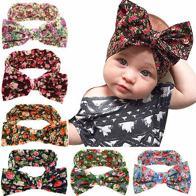 Cute Kids Girl Baby Toddler Bow Headband Hair Band Accessories Headwear