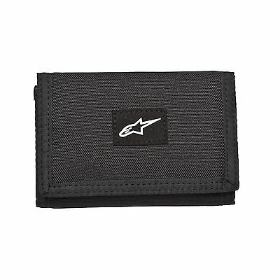 Alpinestars Friction Tri-Fold Heavy Nylon And Faux Suede Wallet - Black