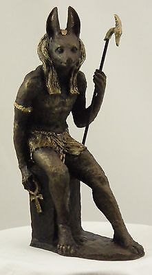 Sculpture of Egyptian God Anubis Wiccan Pagan Magic Statue by Paul Back