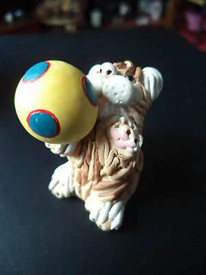 Vintage Peter Fagan Cat With Ball Figurine