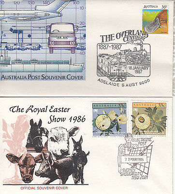 Two Pictorial Postmarks on 2 Covers Unaddressed see scan