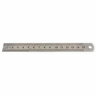 Stainless Steel Measuring Ruler Rule Scale Machinist Tools 15cm CT