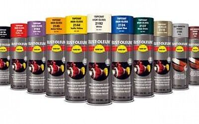 Rustoleum Hard Hat RAL Topcoat Paint Spray 500ml Aerosol Red Blue Yellow Green