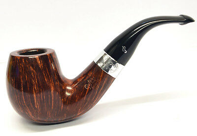 Peterson Sherlock Holmes Professor Smooth Finish Silver Mounted Pipe 9mm Filter