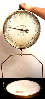 *rare* Hart & Howland 1906 Antique Fall River Ma Grocer Butcher Working Scale!!!
