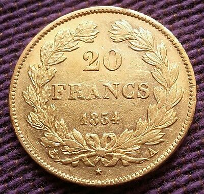 20 francs or Louis Philippe 1834 A sup-