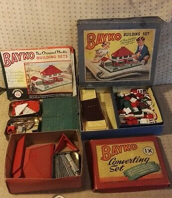 Antique/Vintage BAYKO construction 0 Building Set and 1x Converting Set
