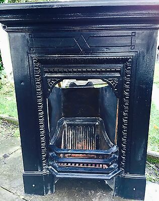 Cast Iron small Edwardian/Victorian bedroom fire. restored