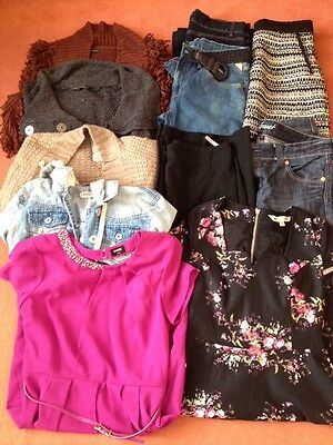 Large Bundle Of Ladies Quality Clothes Size 12 - 14 Oasis river Island