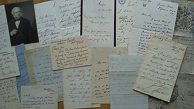 Collection of POLITICS / Politicians / Statesman  Autograph Letters 19th Century