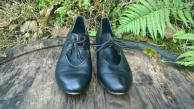 Schofield's Dancewear Ladies Black Leather Tap Dance Shoes. Good Order Size 4