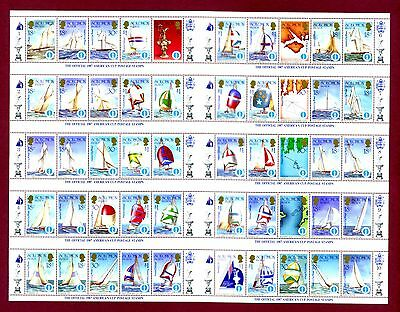 B. SOLOMON 1987 Americas Cup sailing Full sheet of 50 SG570a MNH / UMM CV£20