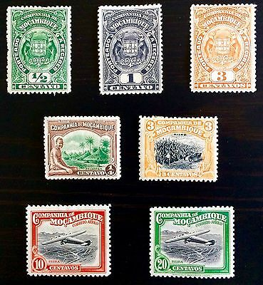 Antique Rare Collectible Set Of Mozambique Africa Postage Stamps