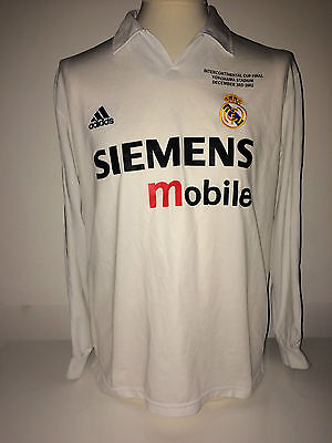 Real Madrid Zidane, Intercontinental Cup Final Match Issue Shirt