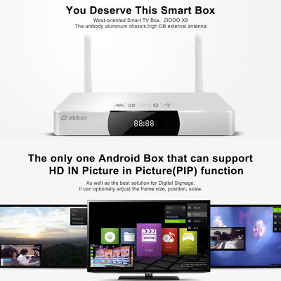 ZIDOO X9 4K*2K 1080P Smart TV BOX H.265 Android Octa Core WIFI 2G+8G Dolby PVR