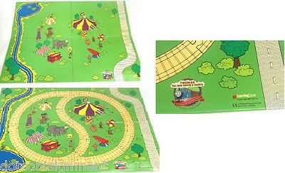 Thomas the Tank Engine Circus Track Play Track Board 27x20 2 Sided Road Animals