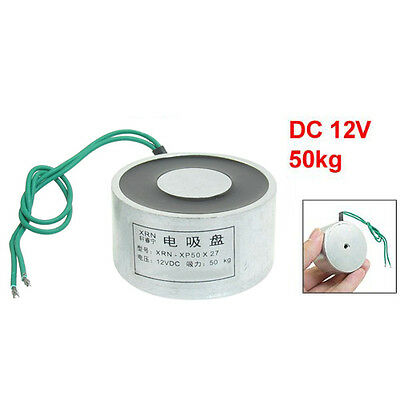 Sucked Electric Lifting Magnet Electromagnet 12VDC 50Kg 110LB 50x27mm CT