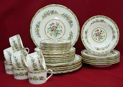 COALPORT china MING ROSE pattern 48-piece SET SERVICE for EIGHT (8)