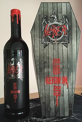 SLAYER Reign in Blood Red Wine with coffin box - Bottle FULL and NEW