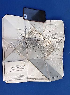 Very Scarce Original Russian 1902 Georgia Royal Navy Batum Bay Map