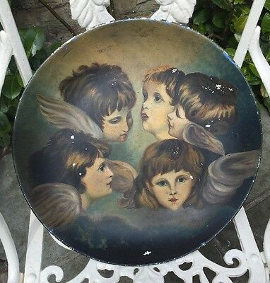 Vintage Beautifully  hand painted 16 ' pottery tray/plate