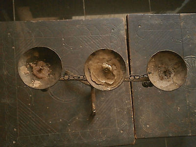 Old Rare Antique Primitive Beautiful Wrought Iron Candlestick Candleholder