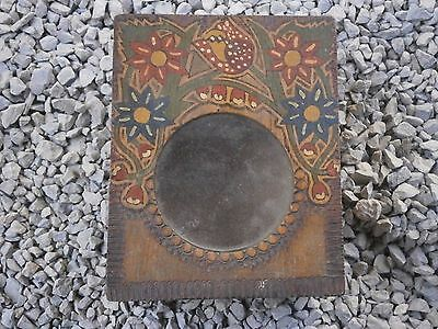 Old Rare Antique Wooden Box For Clock With Painting