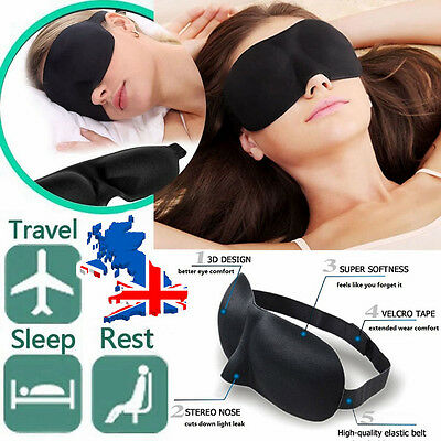 2PCS 3D Sleep Eye Mask Shade for Travel Sleep Rest Airplane