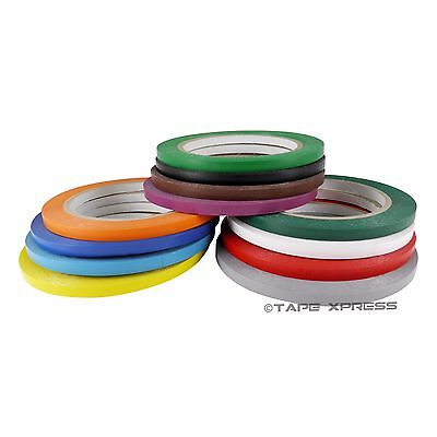 "1/4"" x 108' Vinyl Adhesive Pinstriping Tape Lane Marking Car Decor Several Color"