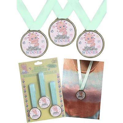 3 5CM Baby Shower Party Winners Medals Fun Activity Ribbon Game Medal Prize