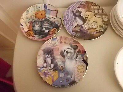 3 Collector Cat Plates -