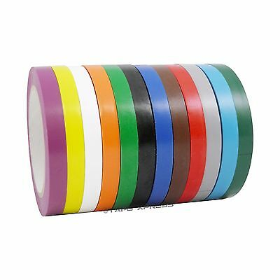 "1/2"" x 108' Vinyl Adhesive Pinstriping Tape Lane Marking Car Decor Several Color"