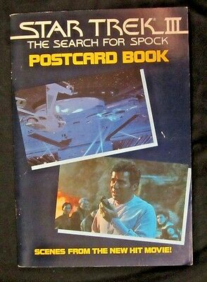 STAR TREK III The Search for Spock POSTCARD BOOK 22 Postcards Included 1984