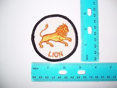 embroidered patch constellation lion