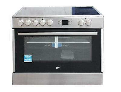 Beko 90cm Electric Range Cooker Freestanding BHSC90X Stainless Steel Single Oven
